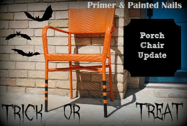 Spooky Painted Patio Chairs - Primer & Painted Nails