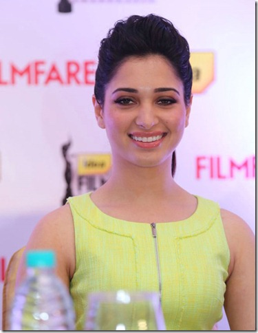 Actress Tamanna at 60th Idea Filmfare Awards (South) Press Conference Photos