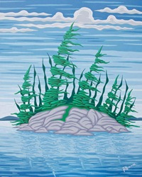 pine tree painting