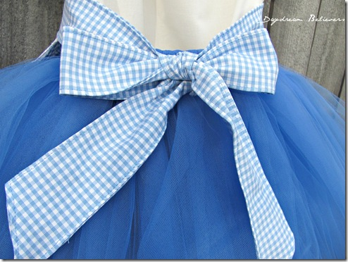 Wizard of oz inspired dorothy tutu costume for halloween and birthday