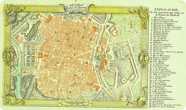 Mapa Madrid 1600