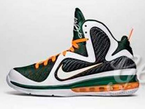 Detailed Look at Nike LeBron 9 8220Miami Hurricanes8221 PE