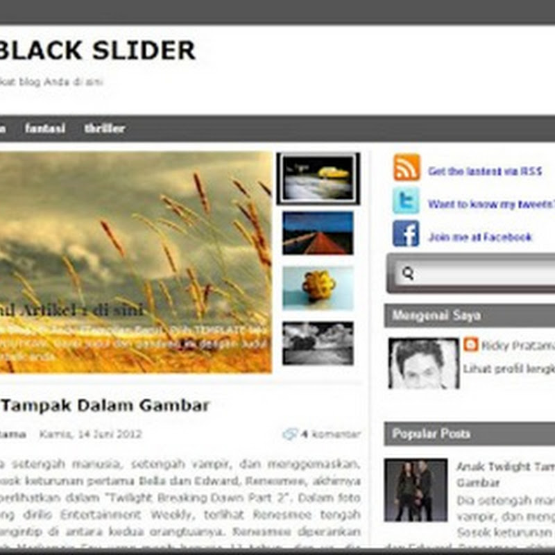 Template Blogger/Blogspot SEO Friendly Gratis