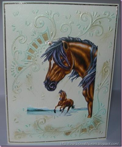 carterie créative, 3D, chevaux, désignable