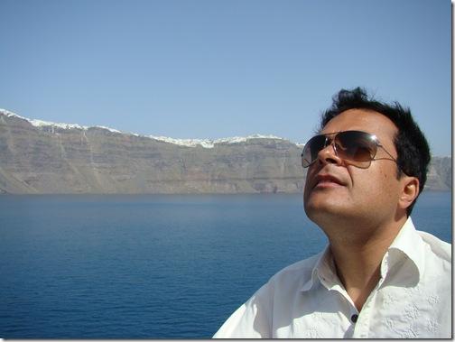 Vindo de Ferry para Santorini