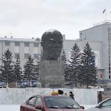 ブリアート共和国ウランウデ市にあるレーニン像