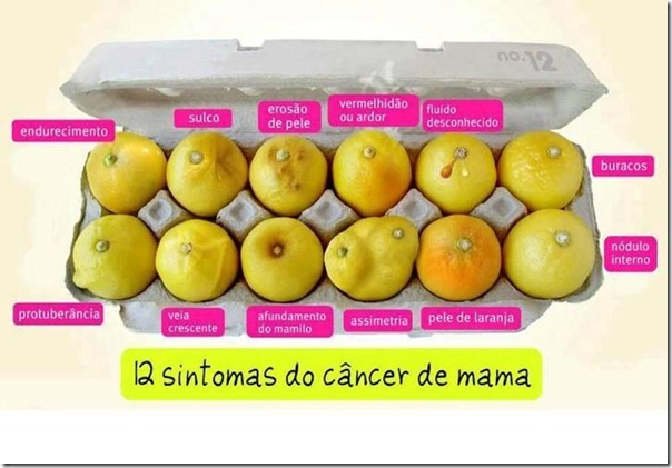 12 sintomas do cancer de mama