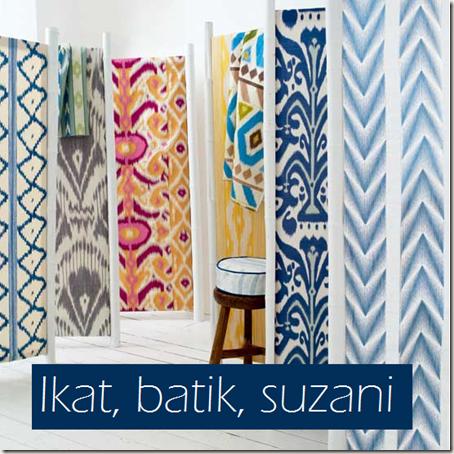 Ikat, batik, suzani