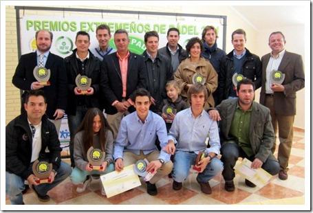 Primera edición Premios extremeños 2011 otorgados por la Federación Extremeña de Pádel.