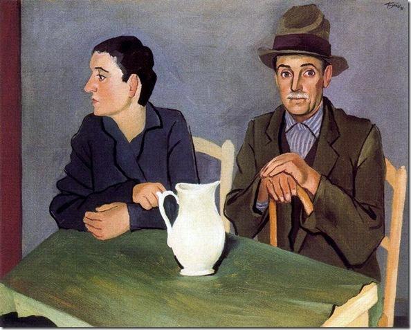 Josep de Togores i Llach -Hombre y mujer -1931