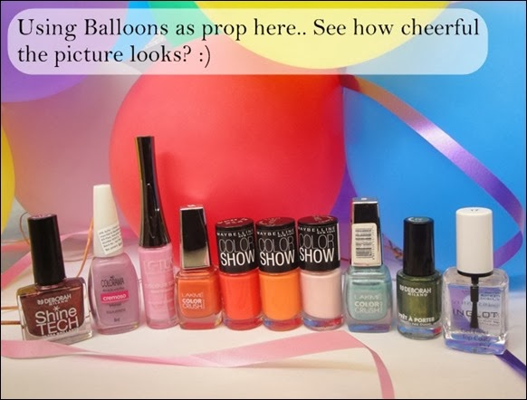 using balloons as props