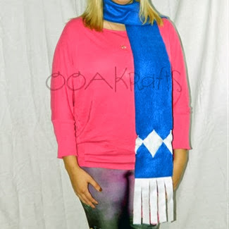 Blue Power Ranger Scarf from OOAKrafts