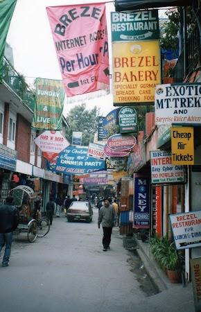 Imagini Nepal: Thamel, cartierul turistic din Kathmandu