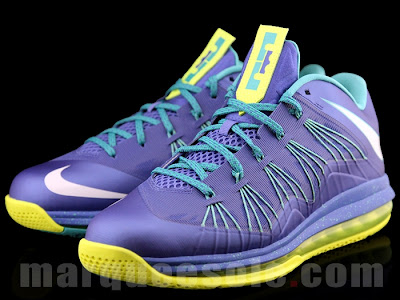 nike lebron 10 low gr blue green 2 03 A Look at LEBRON X Low Hornets. You Can Call Them Sprites Too.
