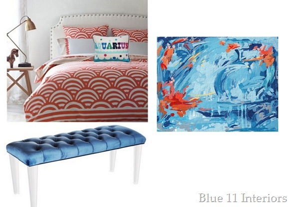 Mindy Project Bedroom with art