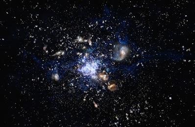 ilustração de um protoaglomerado
