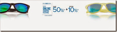 Fashionara: Buy Sunglasses at Flat 50% off + 10% Extra off.
