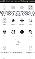 Screenshot of Zebra go launcher theme