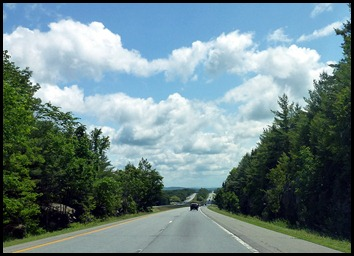 6 - Travel to Lubec, I-95 beautiful clouds