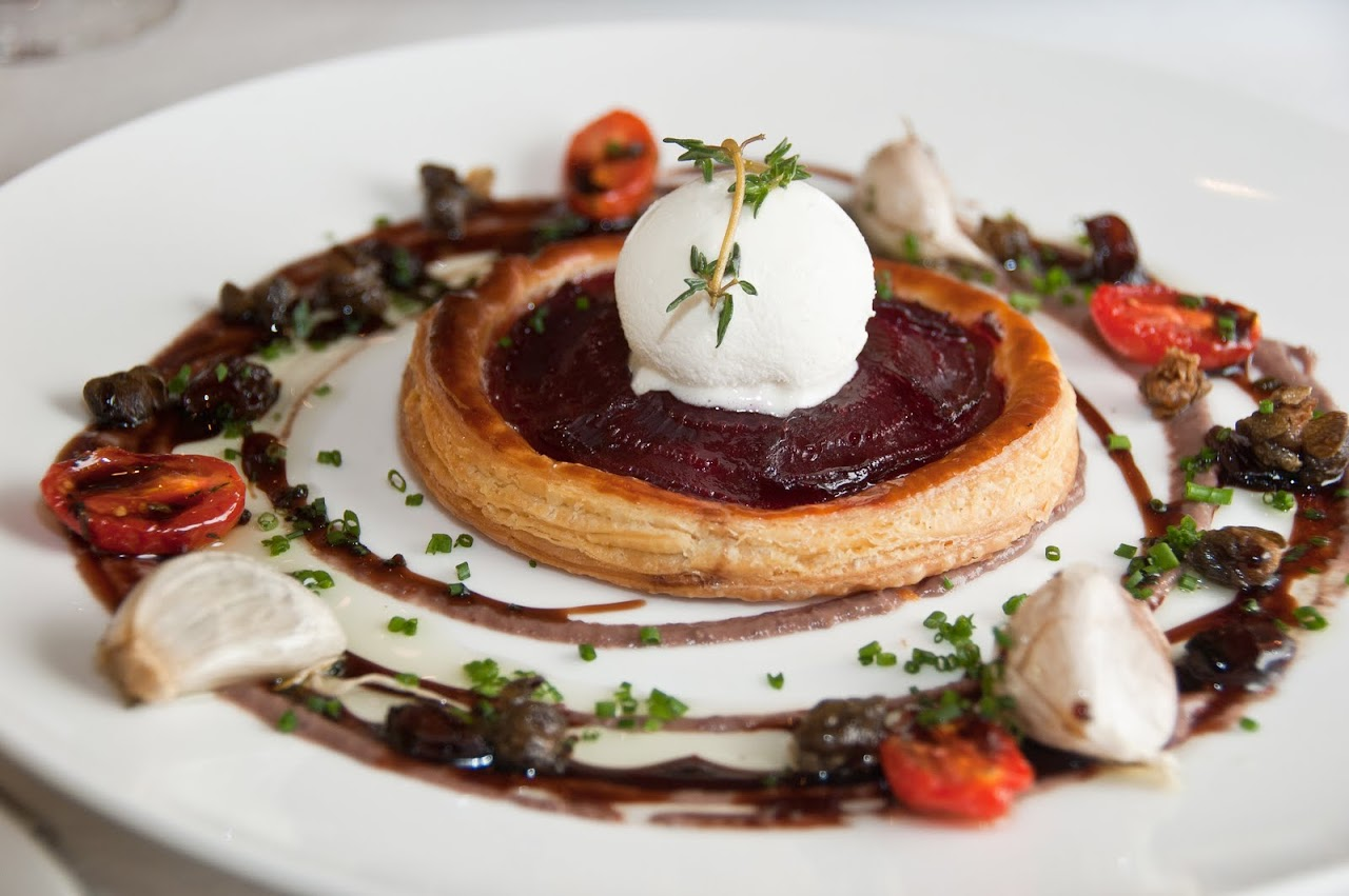 Beetroot tart La Colombe