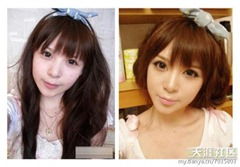 chinese girls makeup before and after  (3)