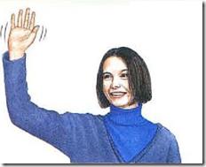 agitar la mano