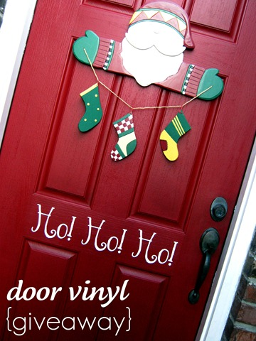 holiday door vinyl giveaway