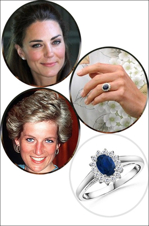 Kate Middleton's Sapphire and Diamond Ring
