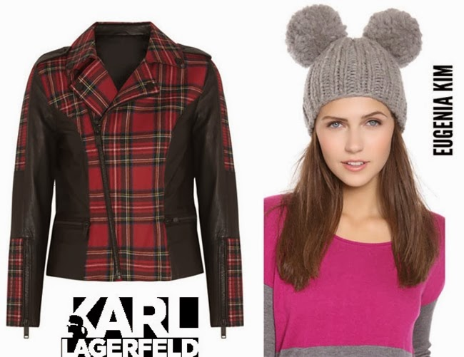 Beyonce-Knowles-In-Karl-Lagerfeld-Biker-Jacket-and-Eugenia-Kim-Pom-Pom-Hat