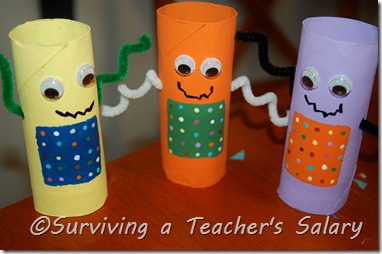 toilet paper tube craft for kids robots craft