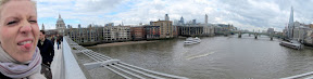 Panorama from the Millennium Bridge