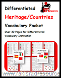 Study countries of the world with this free vocabulary packet from Raki's Rad Resources.  Perfect for English Language Learners.
