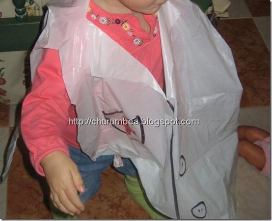 disfraz medico bolsa basura