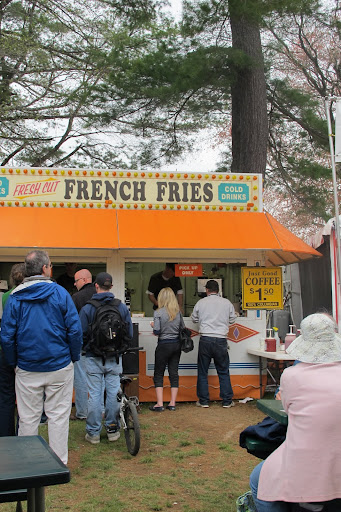 The line is growing for hand-cut fries.