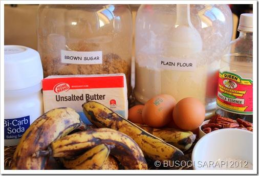 BANANA BREAD INGREDIENTS© BUSOG! SARAP! 2012