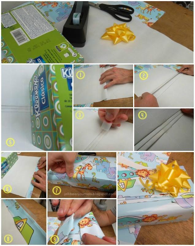 pretty simple gift wrap technique tutorial