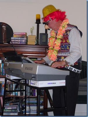 Surprise guest artist, Clarence the Clown.