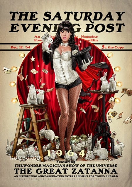 Saturday Evening Post - Zatanna 1964 by OnlyMilo