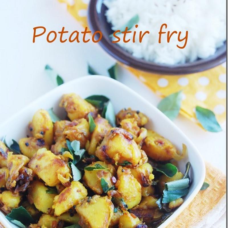Potato stir fry
