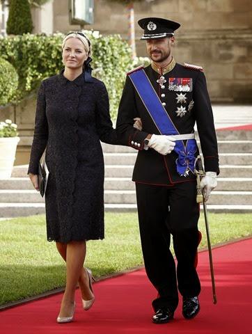 El príncipe Haakon de Noruega y la princesa Mette-Marit,