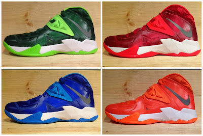 nike zoom soldier 7 xx team banks 1 01 Closer Look at Nike Zoom Soldier VII Team Bank Styles
