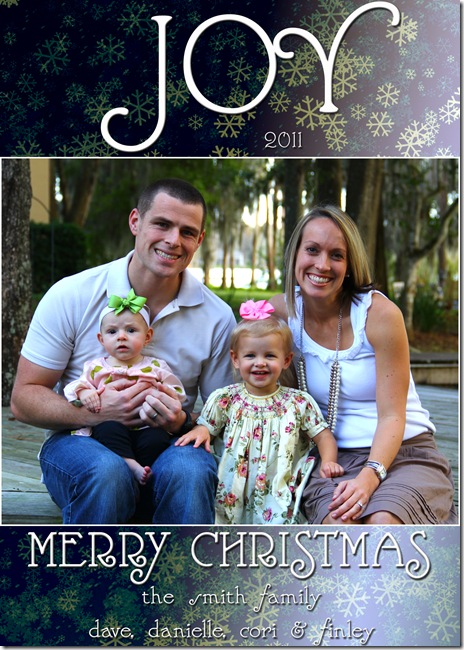 Smith Family Christmas Card '11