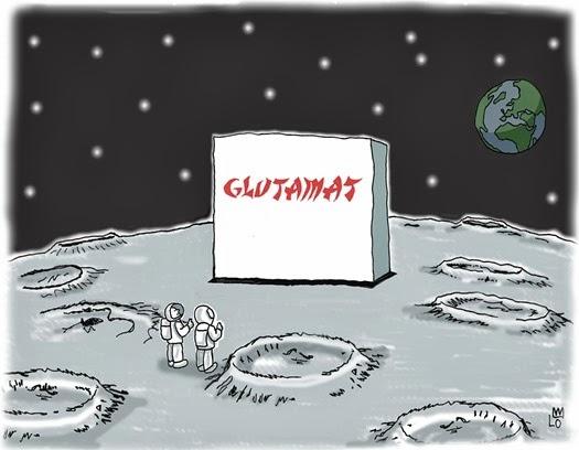 Mond China Glutamat Top Beschnitt