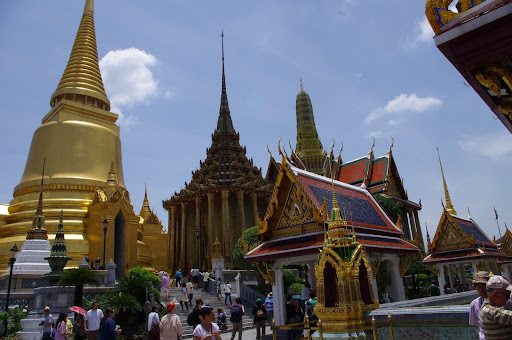 Buddhist temples in Thailand's Grand Palace.