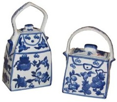 blue and white porcelain decorative purses