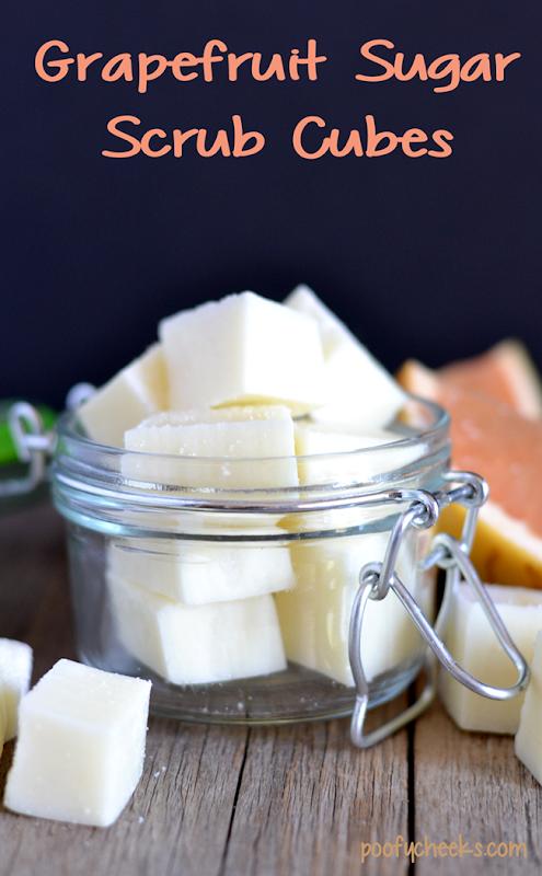 Easy Exfoliating Grapefruit Sugar Scrub Cubes