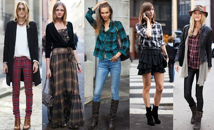 look vestido xadrez moda feminina