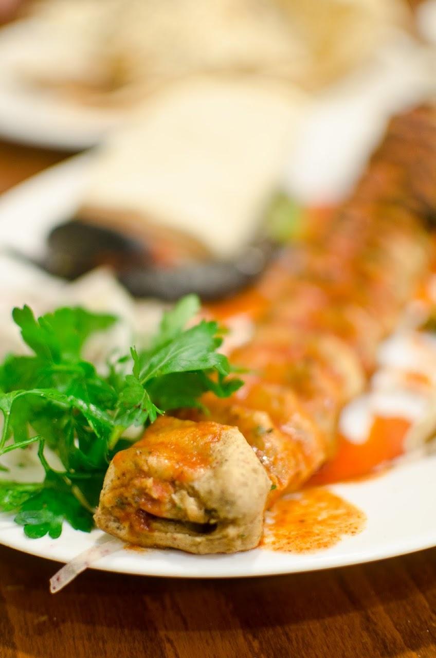 Vegetarian kebab at Ciya Sofrasi