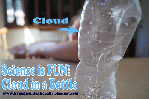 make a cloud in a bottle science experiment