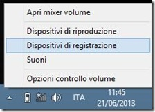 Windows Audio Dispositivi di registrazione